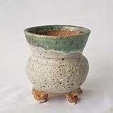 원형 투톤 수제화분 다육이화분1 cm Handmade Flower pot