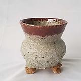 원형 투톤 수제화분 다육이화분2 cm Handmade Flower pot