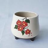 미니 꽃그림 수제화분 다육이화분 Handmade Flower pot