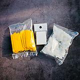 이름표 일자 티자 노랑 흰색|