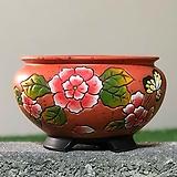 수제화분 글로리아C(오렌지) Handmade Flower pot