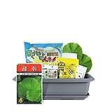 월드가드닝 길러먹는유기농채소-곰취텃밭세트9종/배양토/마사토/씨앗/식물이름표/식물애보약|