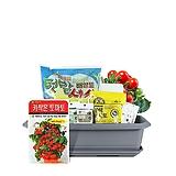 월드가드닝 길러먹는유기농채소-키작은토마토텃밭세트/배양토/마사토/씨앗/식물이름표/식물애보약|