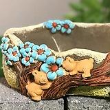 수제화분 곰이랑 대형(3.파랑) 