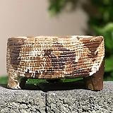 수제화분 빈티지낮은분(브라운톤) Handmade Flower pot