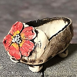 국산수제화분 도향 꽃신2(빨강)|