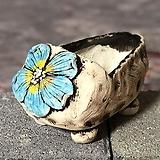 국산수제화분 도향 꽃신2(파랑)|