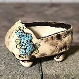 국산수제화분 도향 꽃신3(파랑)|