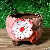 수제화분 입체분꽃(핑크)|