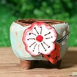 수제화분 입체분꽃(블루)|Handmade Flower pot