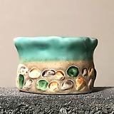 수제화분 자갈자갈(C.블루원형)|Handmade Flower pot