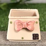 수제화분 사각리본분(핑크)|Handmade Flower pot