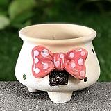 수제화분 리본분2(핑크)|Handmade Flower pot