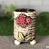 국산수제화분 도향#105(빨강) Handmade Flower pot