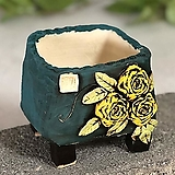 국산수제화분 도향#123(노랑) Handmade Flower pot