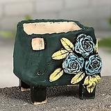 국산수제화분 도향#123(파랑) Handmade Flower pot