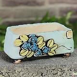 국산수제화분 도향#124(파랑) Handmade Flower pot