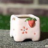 수제화분 딸기분A(핑크)미니 Handmade Flower pot