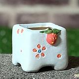 수제화분 딸기분A(블루)미니 Handmade Flower pot