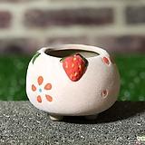 수제화분 딸기분B(핑크) Handmade Flower pot