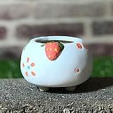 수제화분 딸기분B(블루) Handmade Flower pot