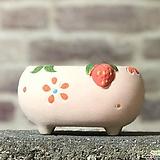 수제화분 딸기분C(핑크) Handmade Flower pot