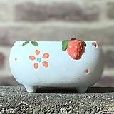 수제화분 딸기분C(블루) Handmade Flower pot