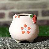 수제화분 딸기분D(핑크) Handmade Flower pot