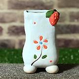 수제화분 딸기분E(블루) Handmade Flower pot