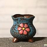 수제화분 토리2-1블루(미니화분) Handmade Flower pot