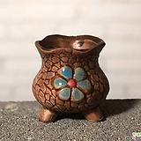 수제화분 토리2-1브라운(미니화분) Handmade Flower pot