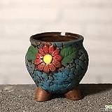 수제화분 토리2-4블루(미니화분) Handmade Flower pot