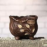 수제화분 토리4-3브라운(미니화분) Handmade Flower pot