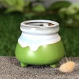 수제화분 미니원분2(그린)|Handmade Flower pot