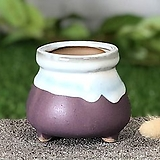 수제화분 미니원분2(퍼플)|Handmade Flower pot