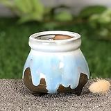 수제화분 미니원분2(카키)|Handmade Flower pot