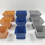 인테리어화분, 플라스틱화분,플분,사각플라스틱화분,사각플분, 칼라화분,칼라분,소품|
