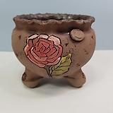 꽃이다공방 명품 수제화분 꽃그림 #4623|Handmade Flower pot