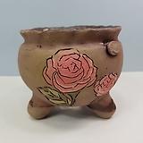꽃이다공방 명품 수제화분 꽃그림 #4625|Handmade Flower pot