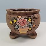 꽃이다공방 명품 수제화분 꽃그림 #4628|Handmade Flower pot
