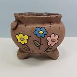 꽃이다공방 명품 수제화분 꽃그림 #4629|Handmade Flower pot