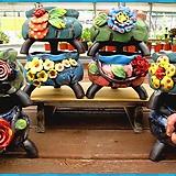 꽃나무소분9종시리즈 다육이 자연과다육 꽃분 수제화분