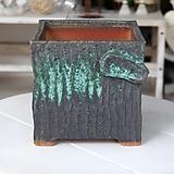 특대형 정사각 판테온(민트-2) - 최고급 수제 화분  예쁜화분 다육화분 베란다화분 개업화분 특이한화분 선물화분 토어도예-TXL-사각형|