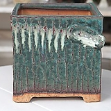 특대형 정사각 판테온(에메랄드 흘림-2) - 최고급 수제 화분  예쁜화분 다육화분 베란다화분 개업화분 특이한화분 선물화분 토어도예-TXL-사각형|