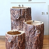 통나무토분 다이카페 꽃분 수제다육화분 수제화분 인테리어화분 |