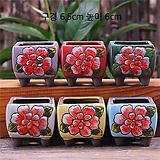 (연꽃그릇) 세미사각한송이꽃 수제다육화분 |
