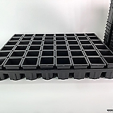 48구 플라스틱 화분 연결 트레이 사각플분 0.5호 사각플분 B-type 1호|