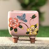 수제화분 사각꽃잔치(핑크)|