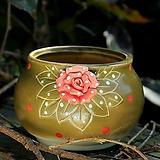 퍼밍장미한점꽃분 다이카페 꽃분 수제다육화분 수제화분 인테리어화분  