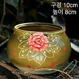 (연꽃그릇) 퍼밍장미한점꽃 수제다육화분 |